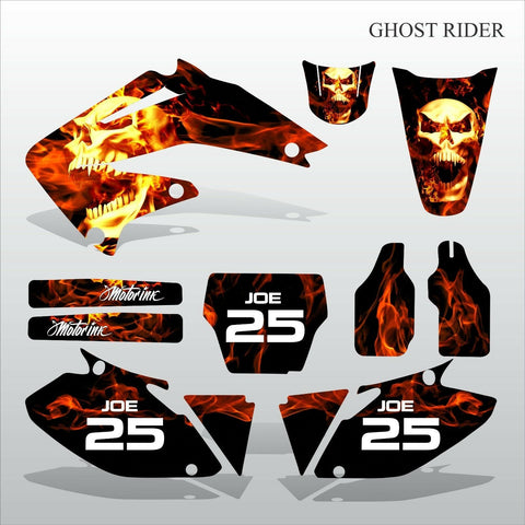 Honda CRF 450 2002-2004 GHOST RIDER motocross decals set MX graphics kit