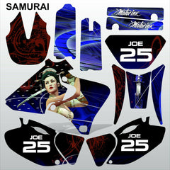 Yamaha YZF 250 400 426 1998-2002 SAMURAI motocross decals set MX graphics kit
