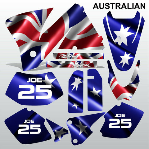 KTM EXC 2001-2002 AUSTRALIAN motocross decals  stripes set MX graphics kit