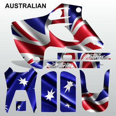 Kawasaki KLX 300 1993-1996 AUSTRALIAN motocross decals  MX graphics stripes