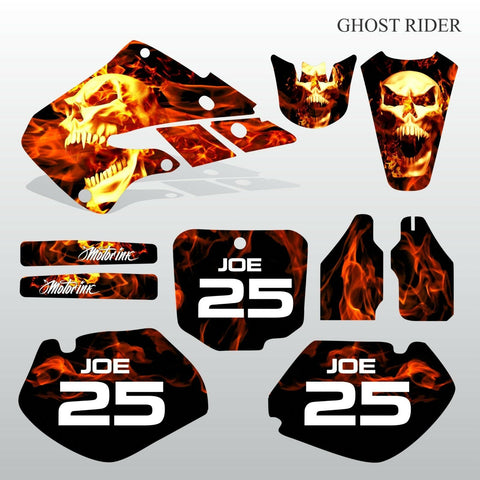 Honda CR125 CR250 1998 1999 GHOST RIDER motocross decals set MX graphics kit