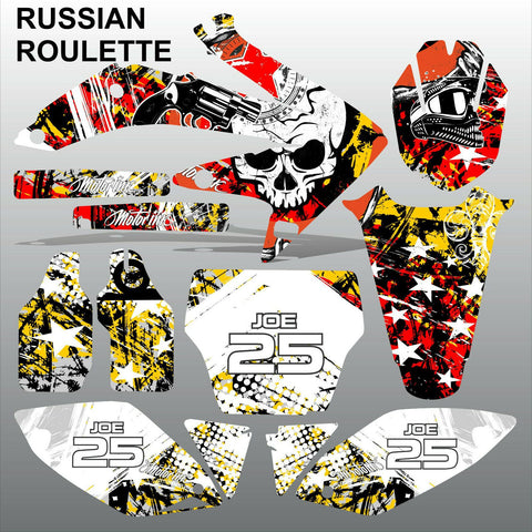 Honda CRF 450 2005-2007 RUSSIAN ROULETTE race motocross decals set MX graphics