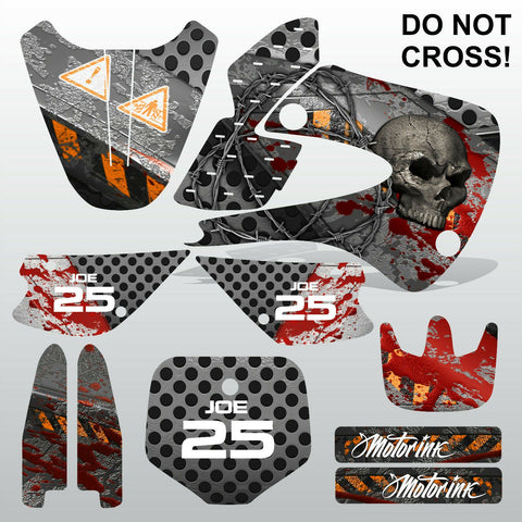 Kawasaki KX 85-100 2001-2012 DO NOT CROSS! motocross decals set MX graphics kit