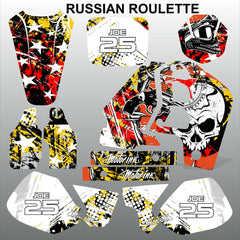Honda CR500 1989-2001 RUSSIAN ROULLETE motocross decals set MX graphics kit