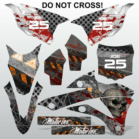 Kawasaki KX 85-100 2014-2015 DO NOT CROSS! motocross decals set MX graphics kit
