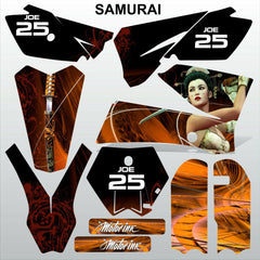 KTM SX 85-105 2006-2012 SAMURAI motocross racing decals set MX graphics kit