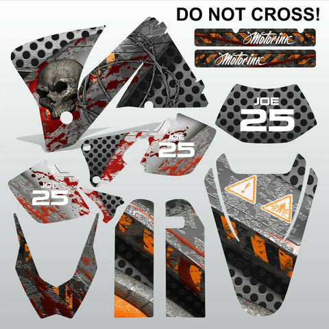 KTM EXC 2001-2002 DO NOT CROSS motocross decals  stripes set MX graphics kit
