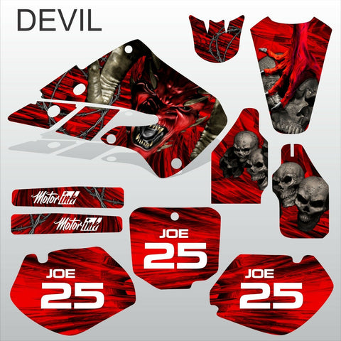 Honda CR125 CR250 1998 1999 DEVIL PUNISHER motocross decals set MX graphics kit