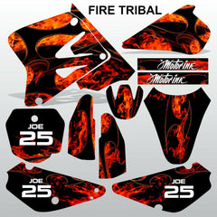 SUZUKI RM 85 2001-2012 FIRE TRIBAL motocross racing decals set MX graphics