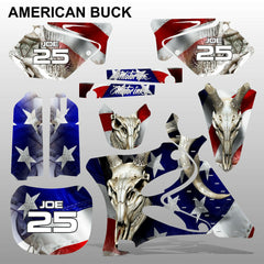 Yamaha YZ 125 250 2002-2014 AMERICAN BUCK motocross decals set MX graphics kit