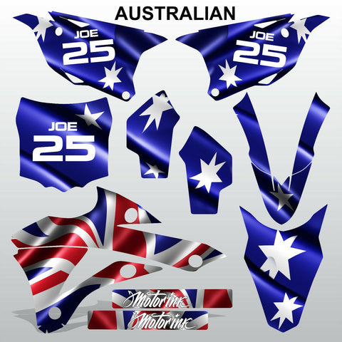 Kawasaki KX 85-100 2014-2015 AUSTRALIAN motocross decals set MX graphics kit