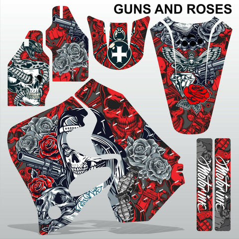 Honda CR125 CR250 1993-1994 GUNS AND ROSES motocross decals set MX graphics kit