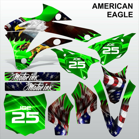 Kawasaki KX 85-100 2014-2015 AMERICAN EAGLE motocross racing decals MX graphics