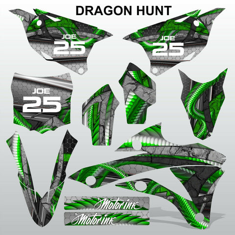 Kawasaki KX 85-100 2014-2015 DRAGON HUNT motocross decals set MX graphics kit