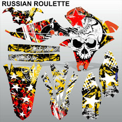 Yamaha YZF 250 450 2014 RUSSIAN ROULETTE motocross decals set MX graphics kit
