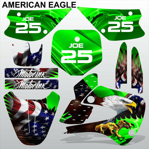Kawasaki KX 85-100 2001-2012 AMERICAN EAGLE motocross racing decals MX graphics