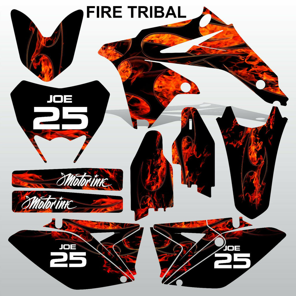 Suzuki RMX 450Z 2011-2013 FIRE TRIBAL motocross racing decals set MX graphics