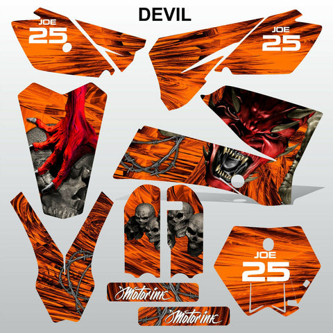 KTM SX 85-105 2006-2012 DEVIL PUNISHER motocross racing  decals set MX graphics