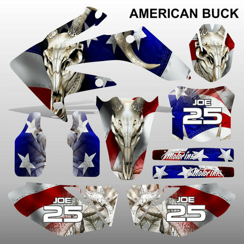Honda CRF 250 2008-2009 AMERICAN BUCK motocross decals MX graphics kit