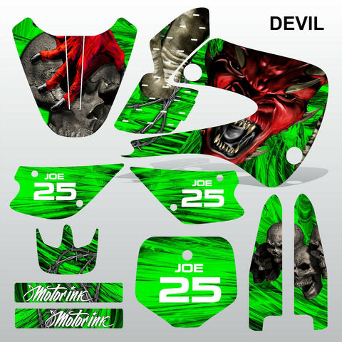 Kawasaki KX 85-100 2001-2012 DEVIL PUNISHER motocross decals set MX graphics kit