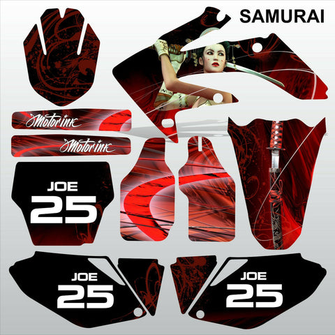 Honda CRF 250 2006-2007 SAMURAI racing motocross decals set MX graphics kit