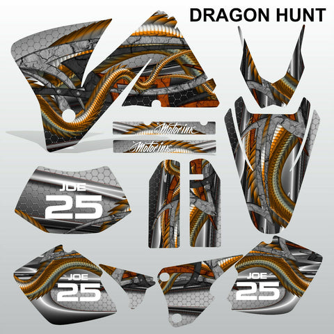 KTM EXC 2001-2002 DRAGON HUNT motocross decals  stripes set MX graphics kit