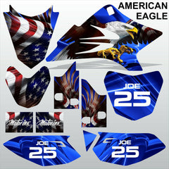 Yamaha TTR 50 2006-2015 AMERICAN EAGLE motocross racing decals set MX graphics