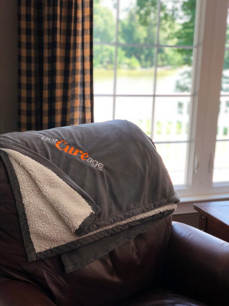 """Chemo Throw"" with optional Custom Embroidery"
