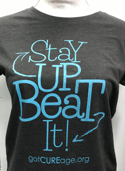 """Stay Up Beat It""   T-shirts"