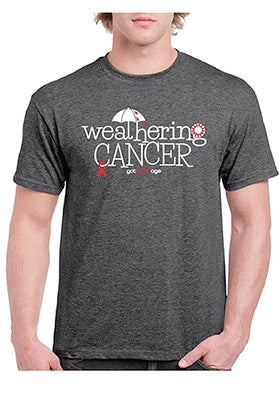 """Weathering Cancer"" Unisex Short-Sleeved Tee- Benefiting Crystal Harper's LLS Woman of the Year Campaign"