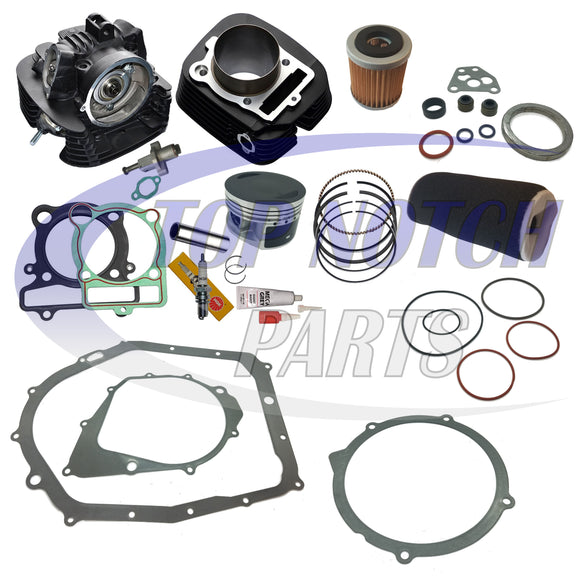 YAMAHA BW 350 CYLINDER HEAD PISTON GASKET OIL AIR FILTER TOP END KIT SET BW350 1987 1988