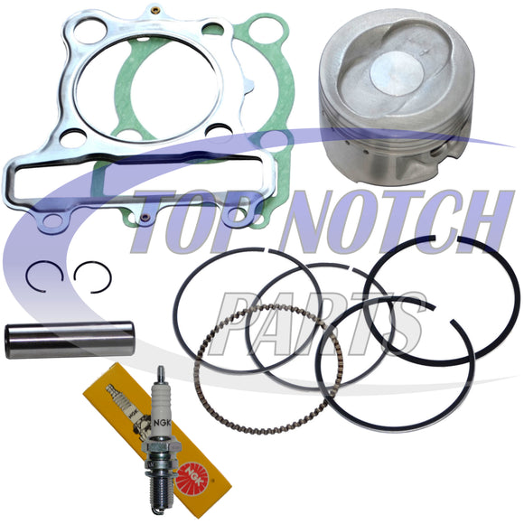 PISTON RINGS GASKET SPARK PLUG SET KIT FOR YAMAHA MOTO-4 250 YFM250 1989 1990 1991