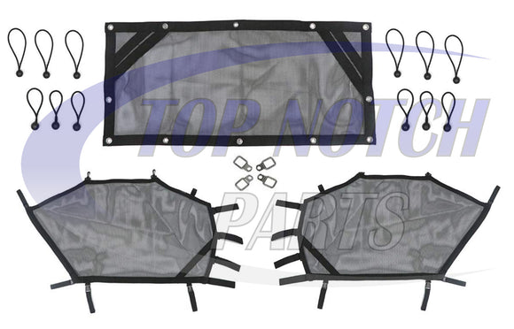 New Window Net Shield Kit For 2014 - 2019 Polaris RZR 900s 1000s XP Turbo
