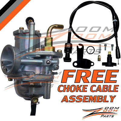 CARBURETOR POLARIS PREDATOR 50 MANUAL CHOKE CABLE 2004-2006 WITH FREE CABLE NEW