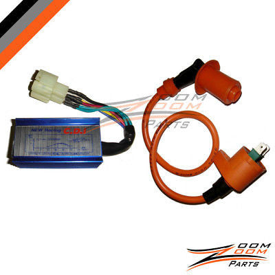 Performance CDI box Ignition Coil GY6 49cc 50cc NEW