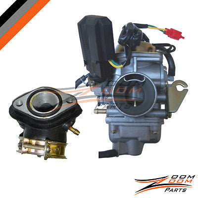 26mm Carburetor Intake Manifold Kit for GY6 150cc Scooter Moped Roketa Carb NEW