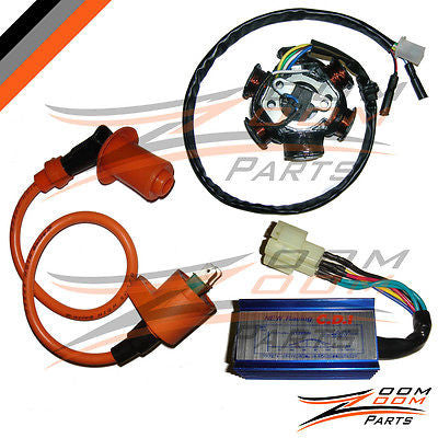 GY6 150 6 Pole Stator Coil CDI Box Ignition Coil 150cc Performance ATV Go  Kart - Zoom Zoom Parts