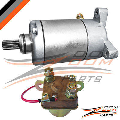 1997 - 2002 Polaris Scrambler 500 Starter Motor & Relay Solenoid ATV Quad NEW