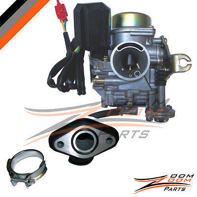 20mm 50cc 50 Xtreme Carburetor & Intake Manifold Boot Scooter Moped Carb NEW