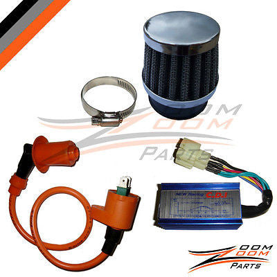 GY6 150cc Performance CDI Coil Air Filter Scooter Moped - Zoom Zoom Parts