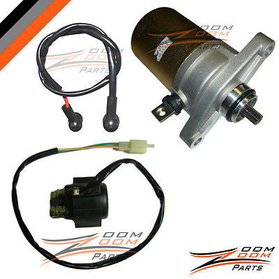Giovanni Jackel Wildfire 49 50 49cc 50cc Starter Motor and Relay Solenoid ATV