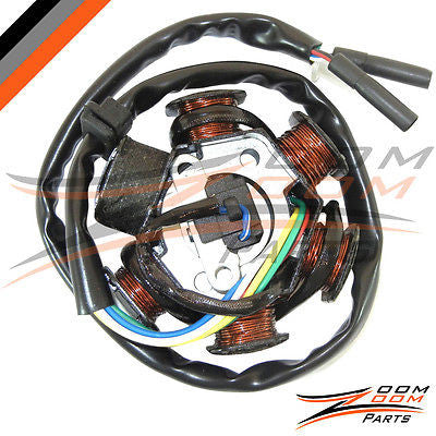 6 Pole Magneto Stator Charging Coil Alternator GY6 150 Go Kart Dune Buggy  150cc - Zoom Zoom Parts