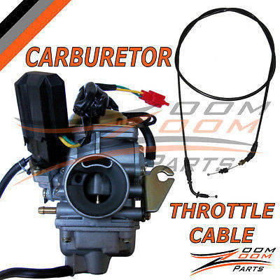 26mm Carburetor Throttle Cable GY6 150 150cc Chinese China Scooter Moped Carb