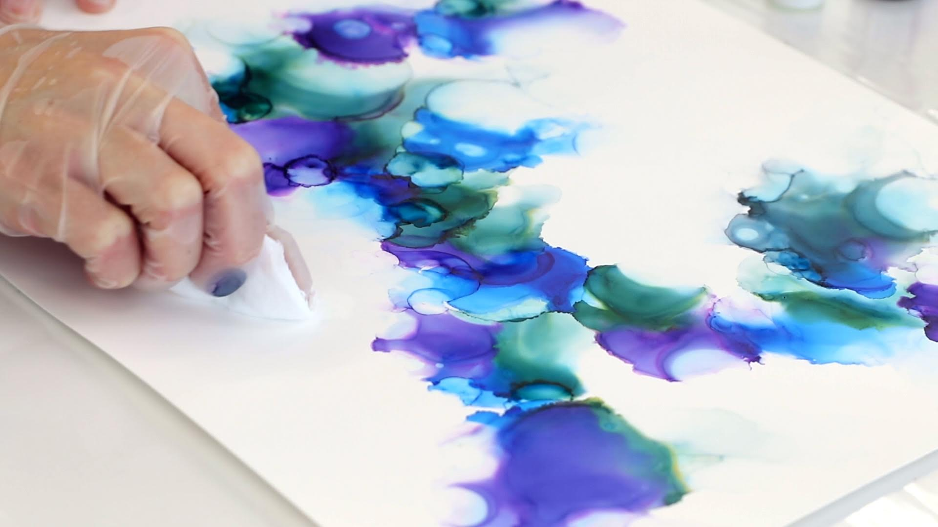 cotton pad to fade out alcohol ink