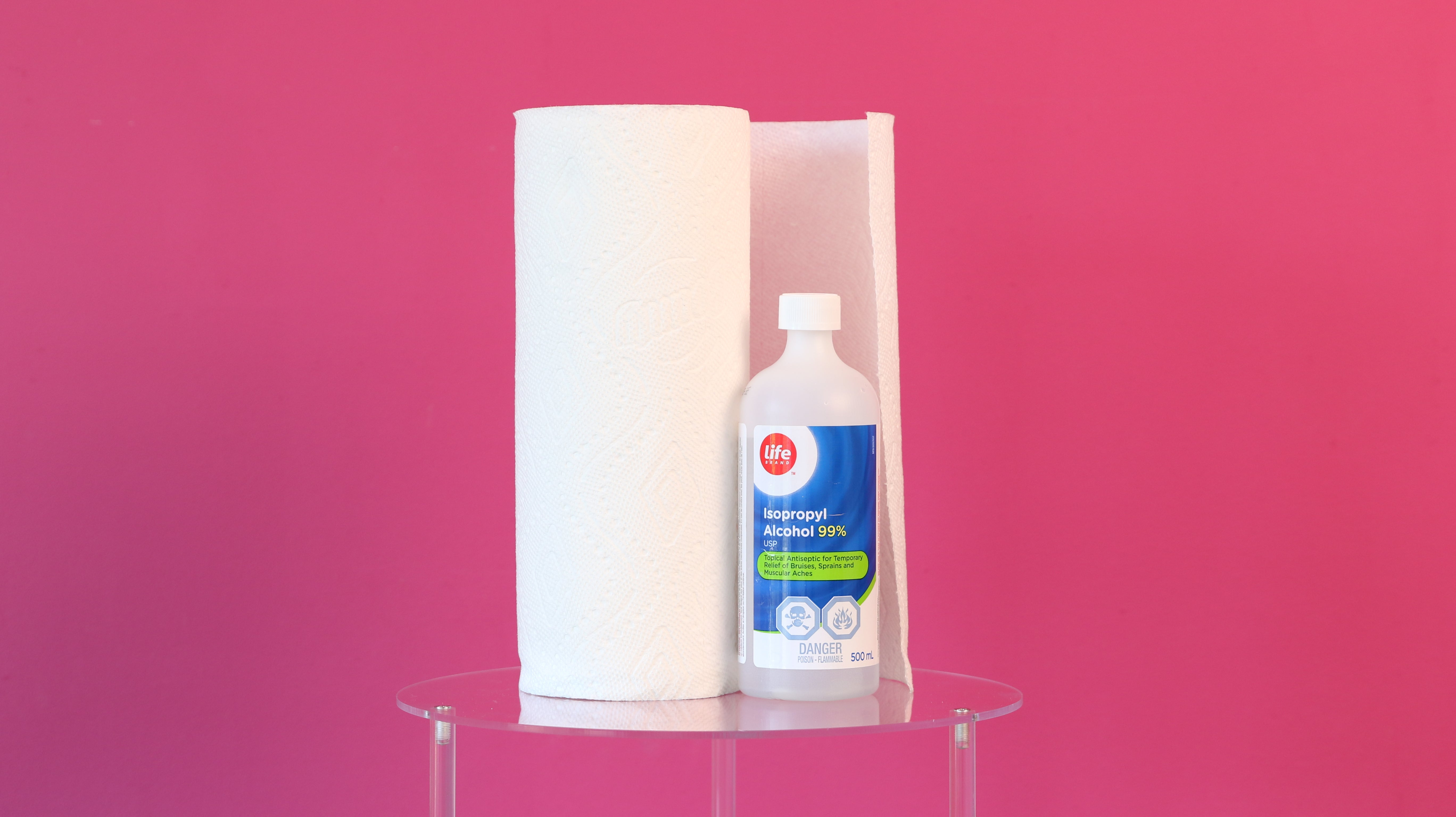 how to clean up resin alcohol paper towel