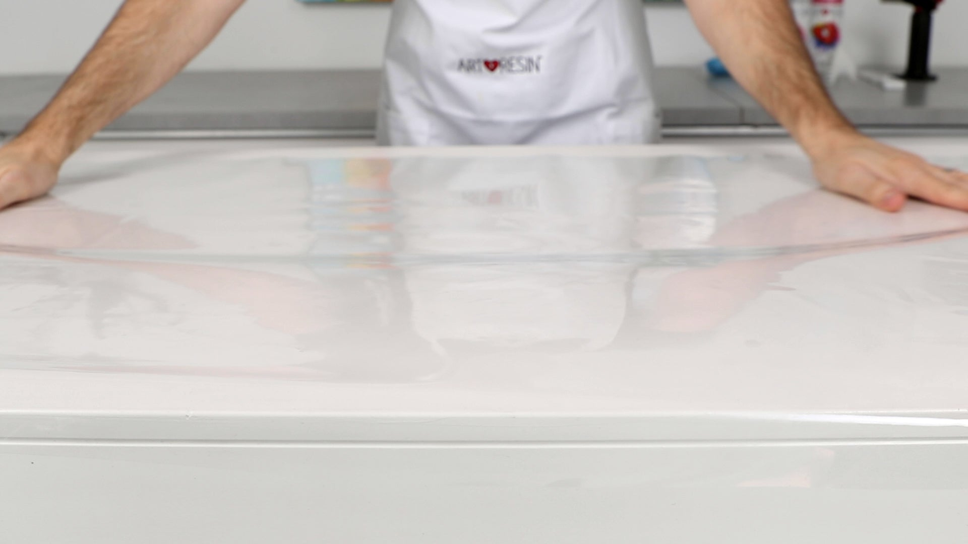 plastic lined work surface