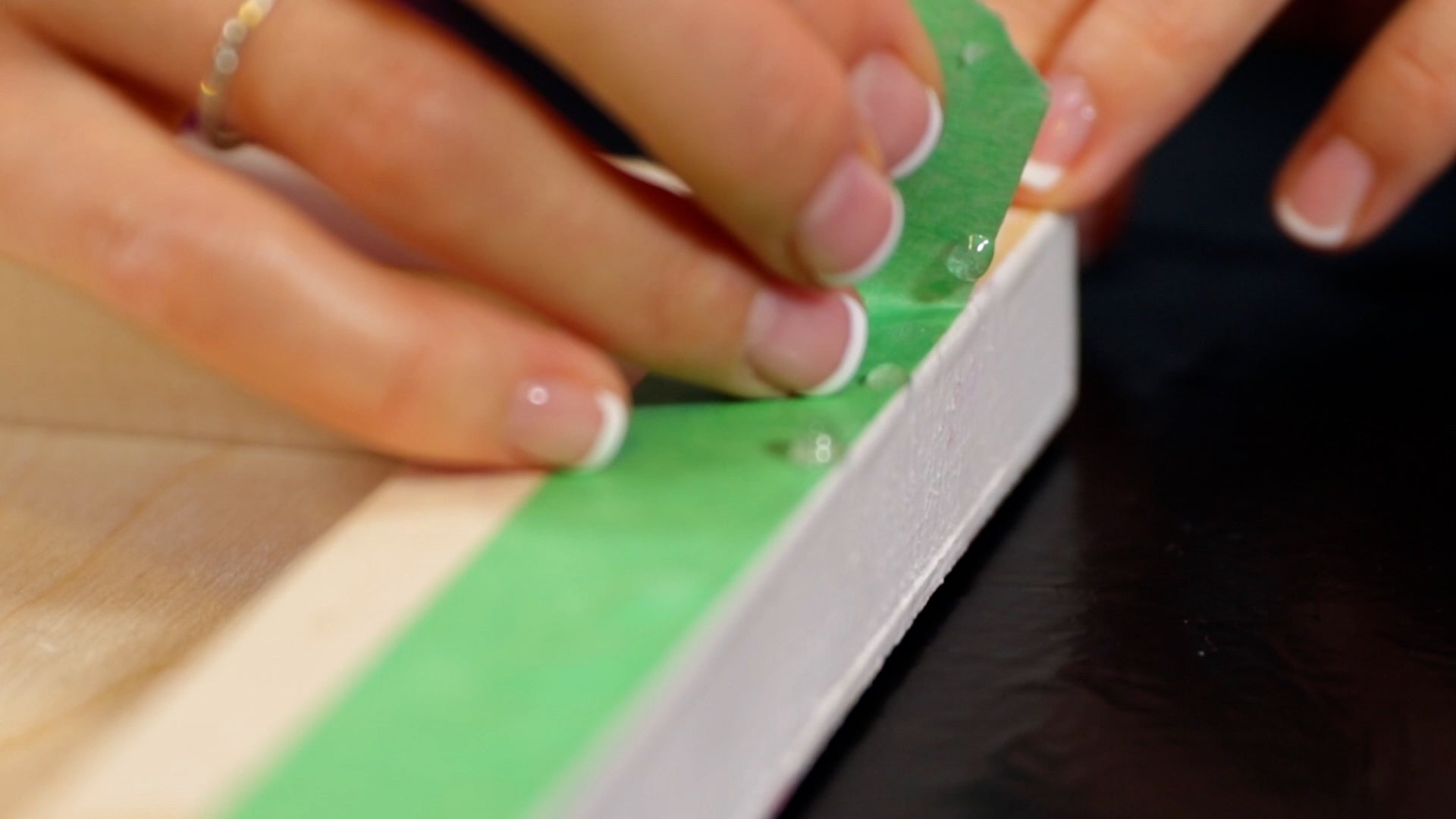 peel off painters tape with resin drips
