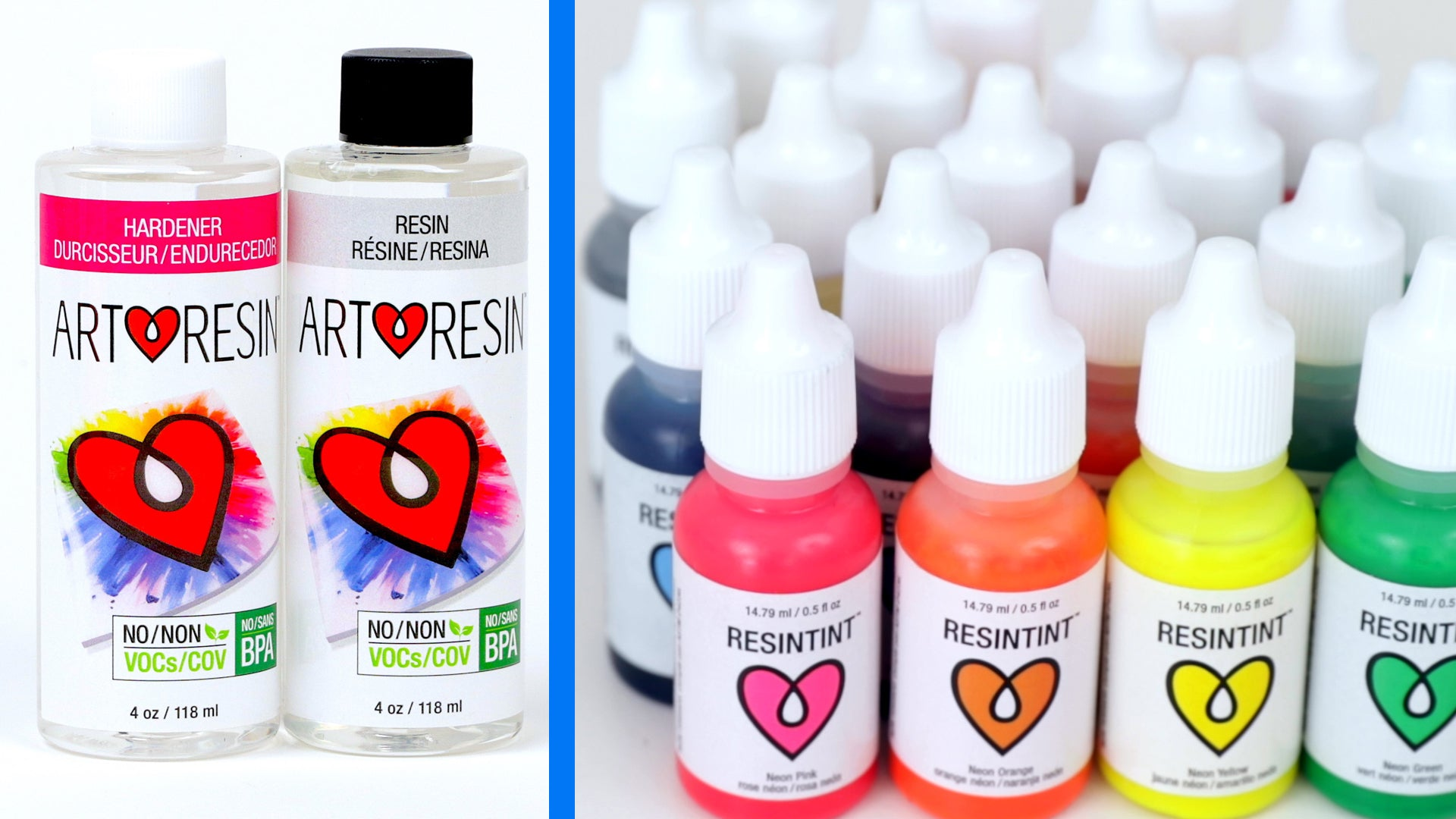 artresin and resintint to make resin molds