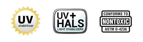 uv hals astm d4236 non toxic resin epoxy