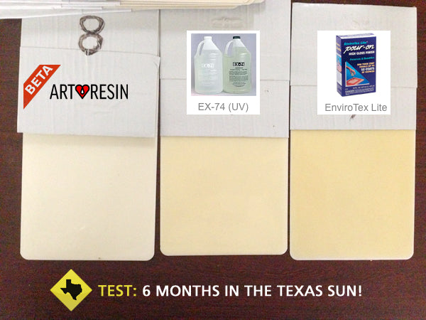 6 month artresin ex-74 test yellowing epoxy resin